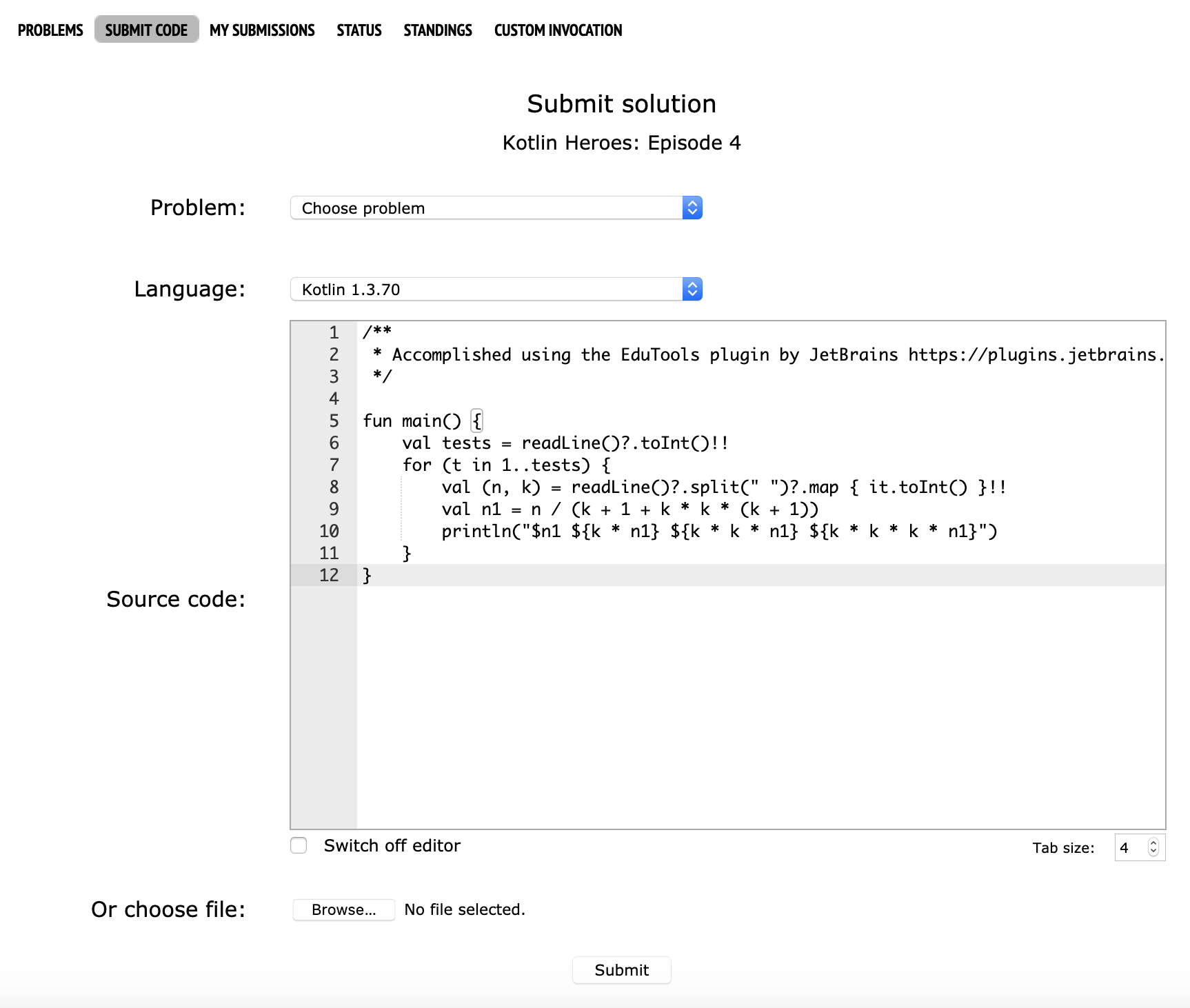 Edu codeforces submit solution