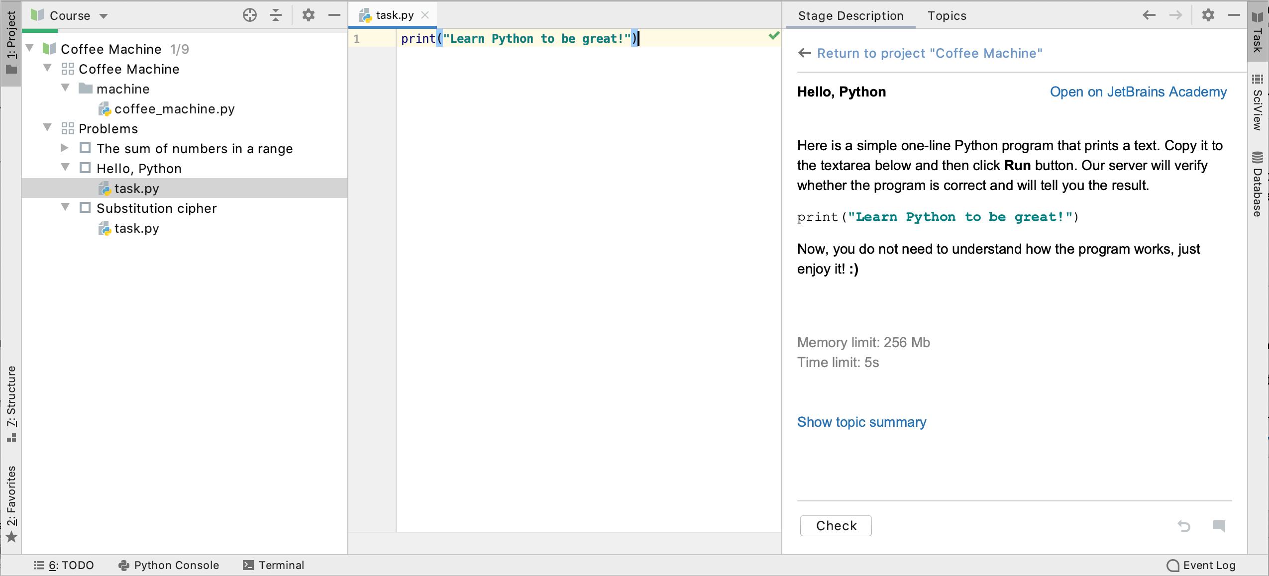 Edu jba code challenge ide python