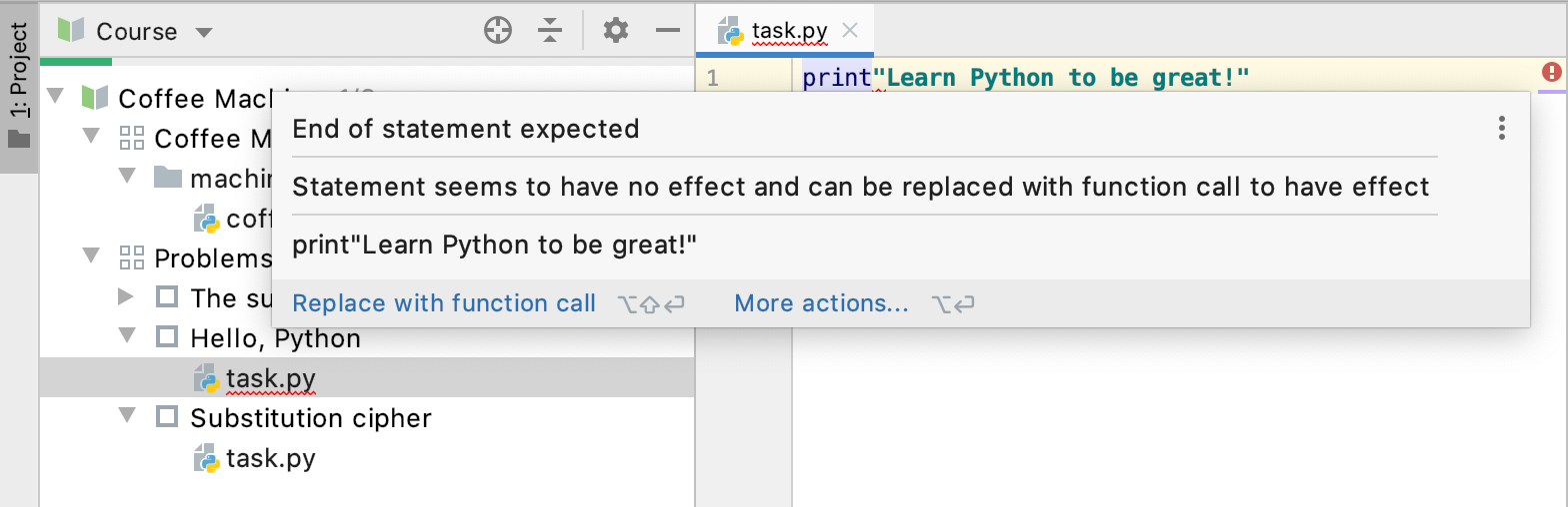Edu jba code inspections python