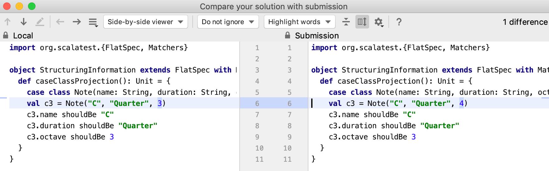 Edu submissions diff scala tutorial