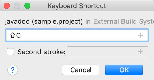 Keyboard shortcut dialog