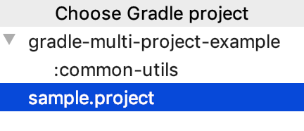 Registered Gradle projects