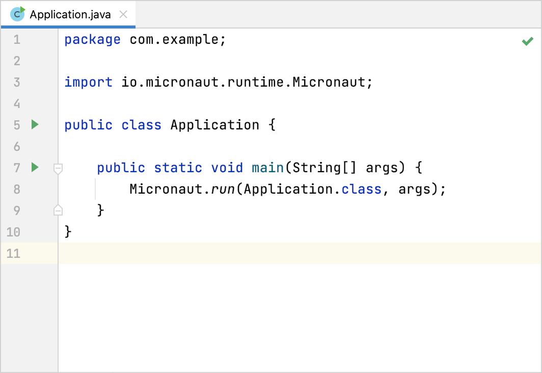 The default Micronaut application main class