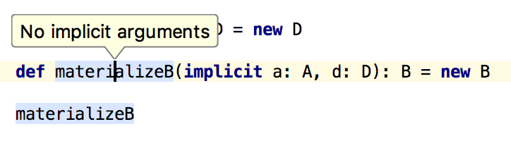 No implicit arguments popup