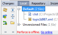 Perforce offline2