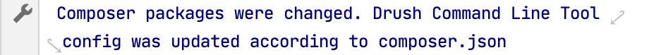Drush auto-configuration message in Composer Log