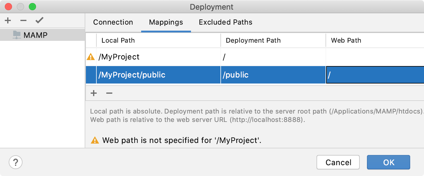 Deployment Mappings for Debugger Validation