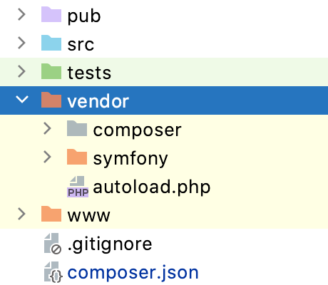 Colors in the Project tool window