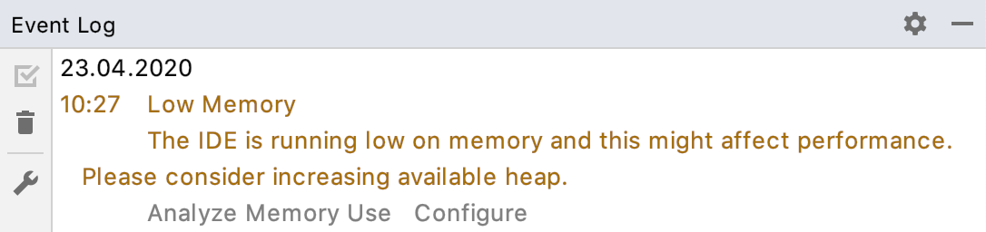 low memory warning