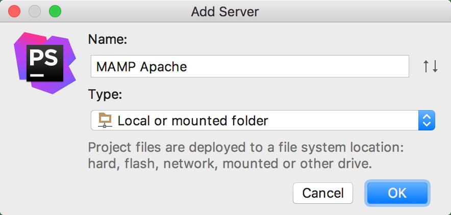 the Add Server dialog