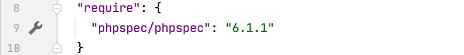 Gutter icon for phpspec settings in composer.json