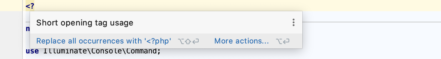 Short tag deprecated syntax