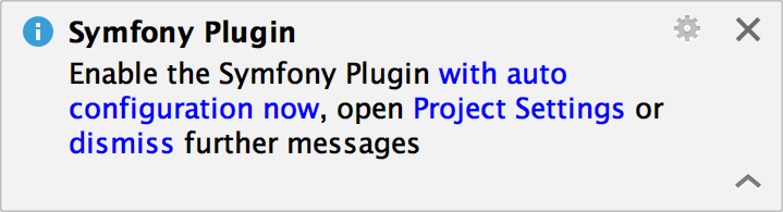 Symfony plugin notification