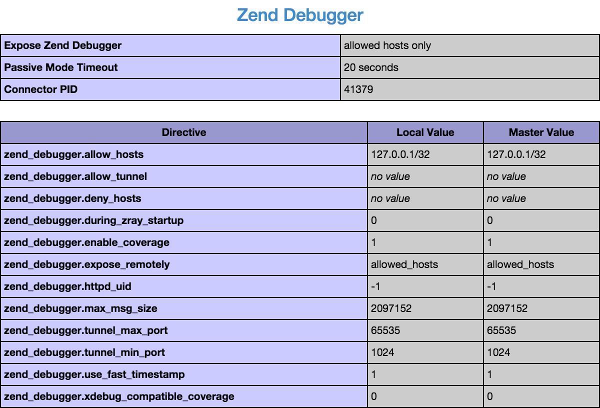 Debugging engine installed