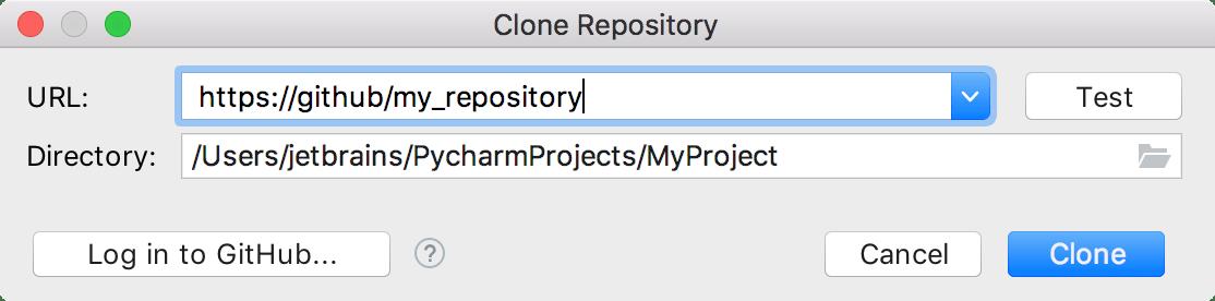 Clone a repository
