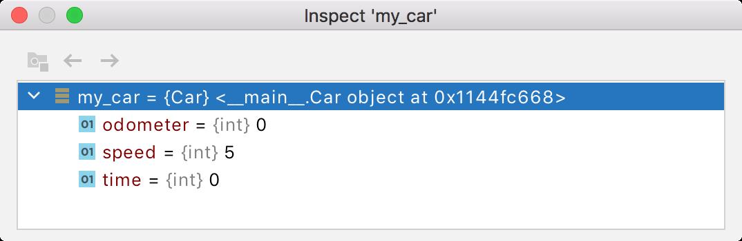 Inspect dialog