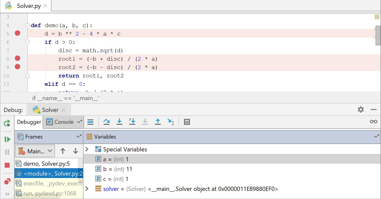 debug the script