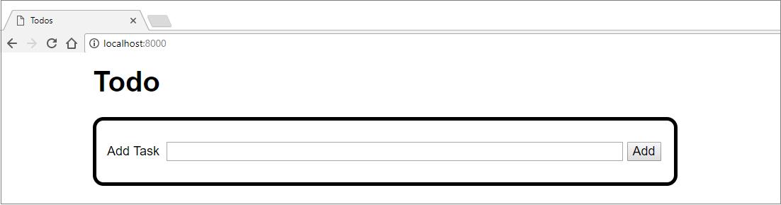 Django application output