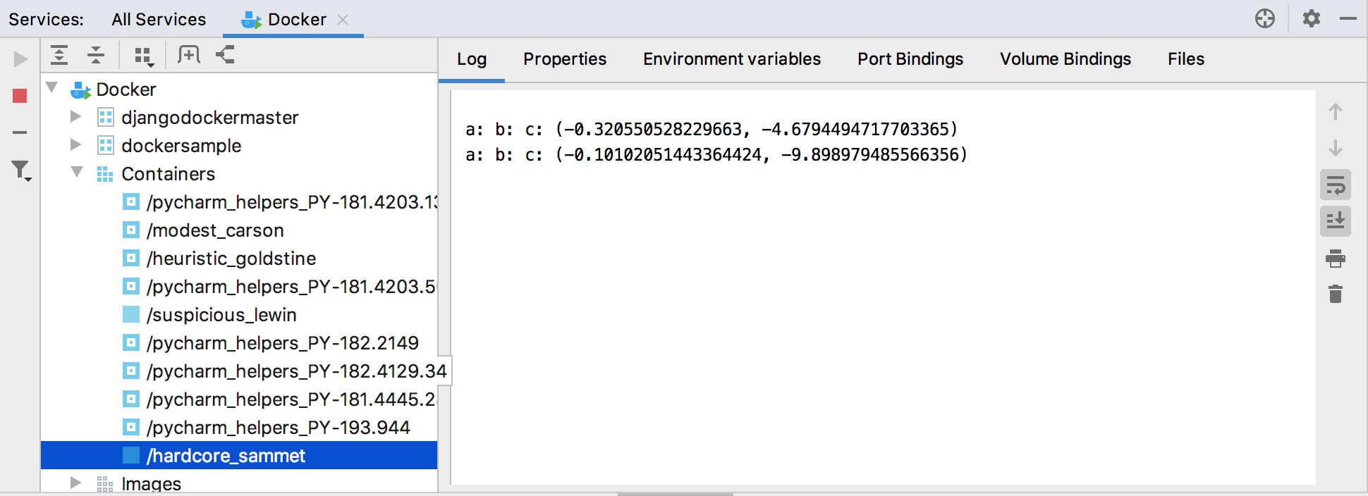 Docker tool window