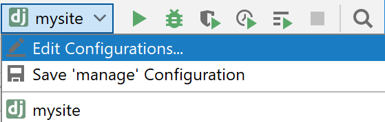 Editing Run/Debug configuration