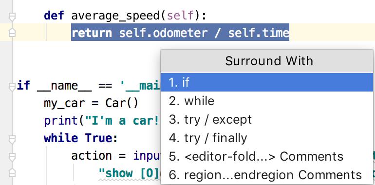 Surround code