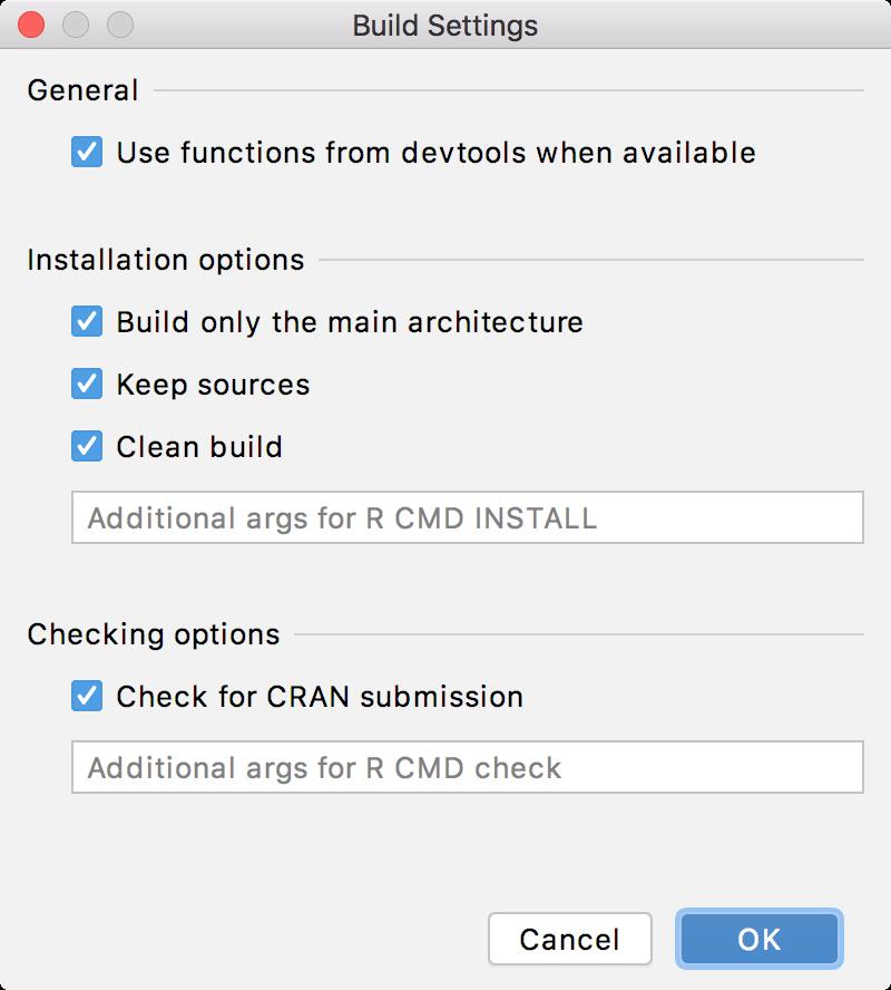 Build options