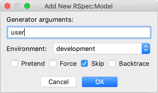 Add New RSpec:model