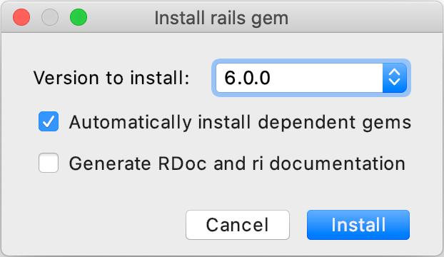 Install rails gem