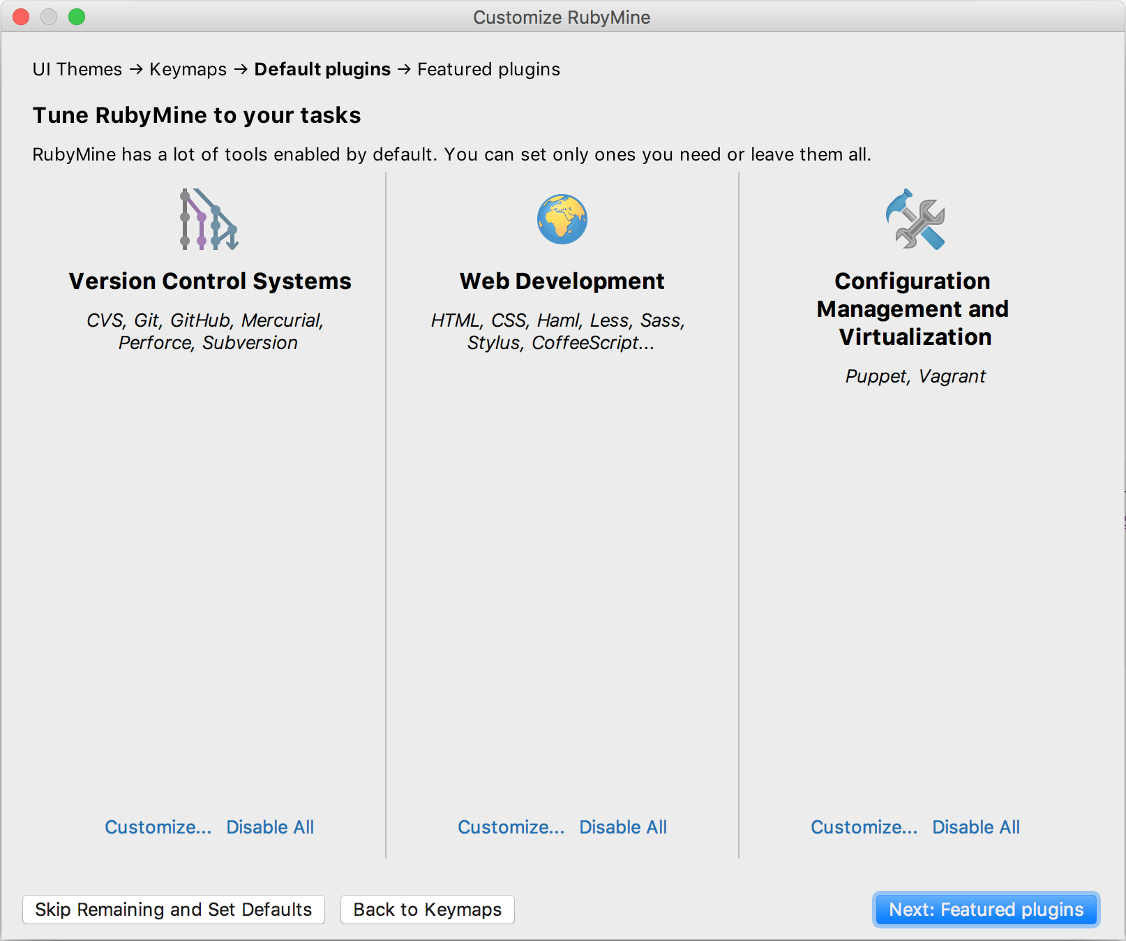 Disable unnecessary plugins
