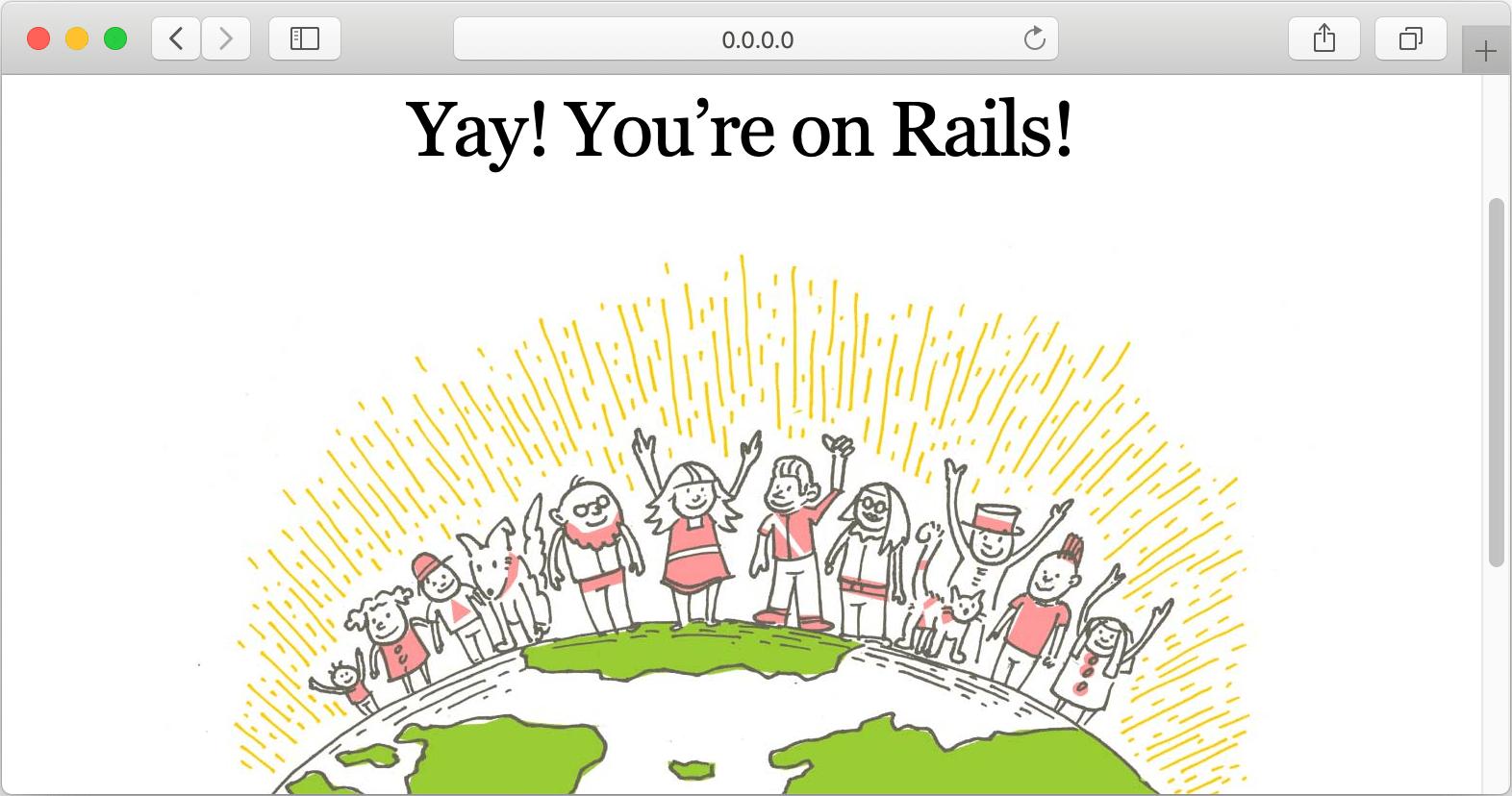 Rails default page