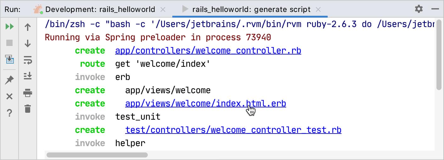 generate script output