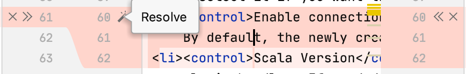 the Resolve Simple Conflicts button