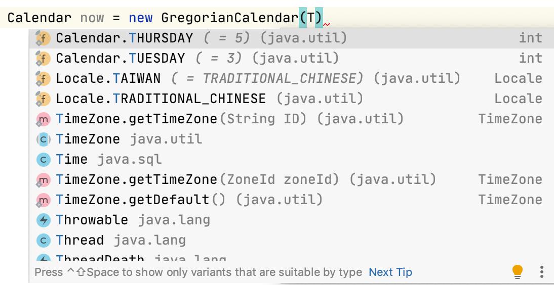 Smart code completion