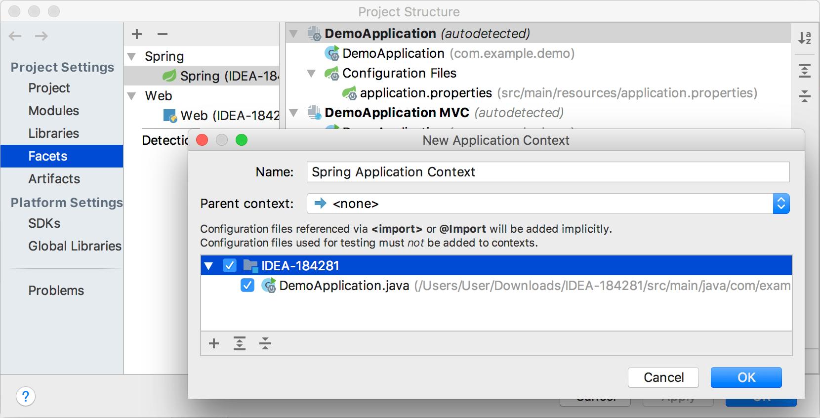Adding application context