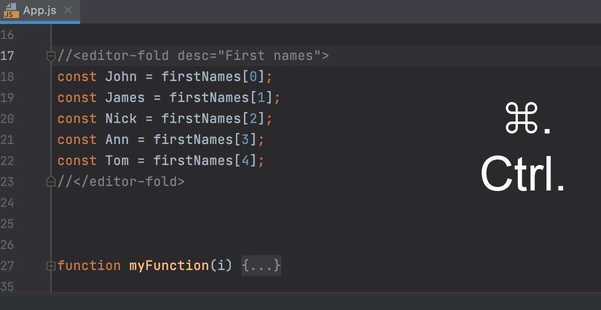 Creating a custom folding region