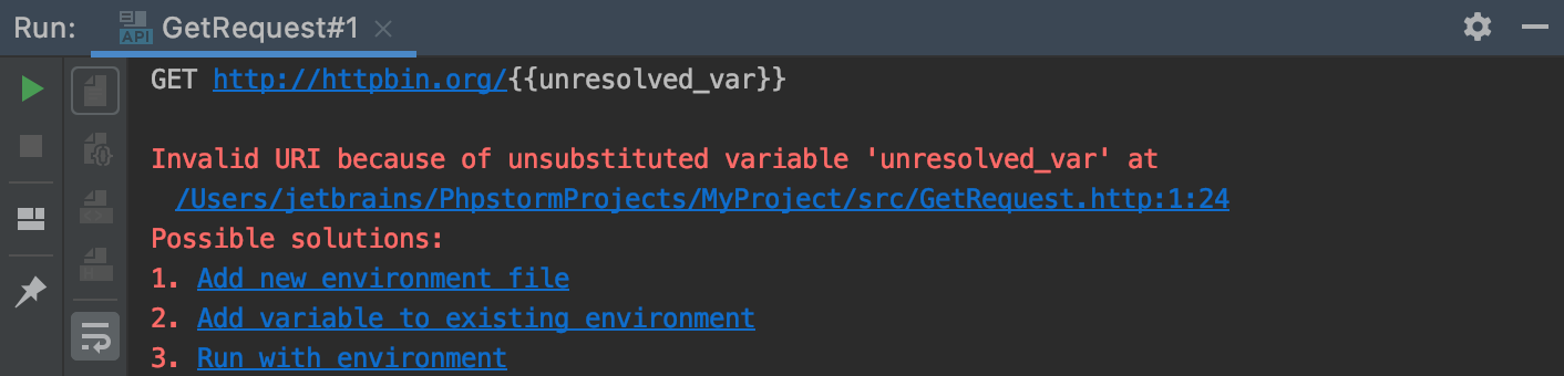 Unresolved Variable in HTTP request notification
