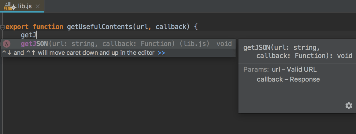 Basic completion: documentation look-up