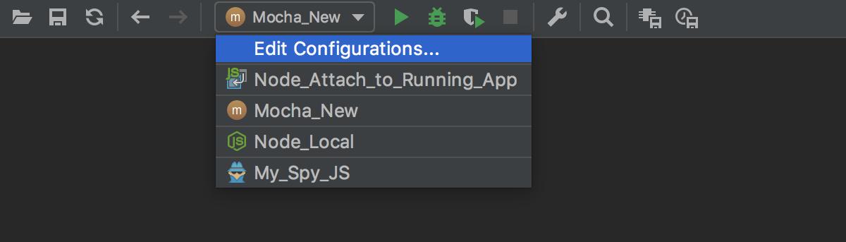 Run configuration selector