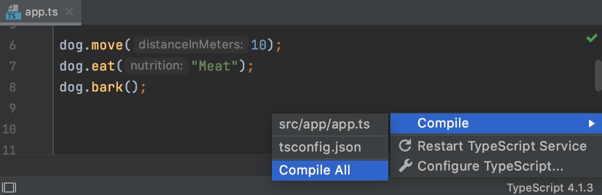 Compile TypeScript code