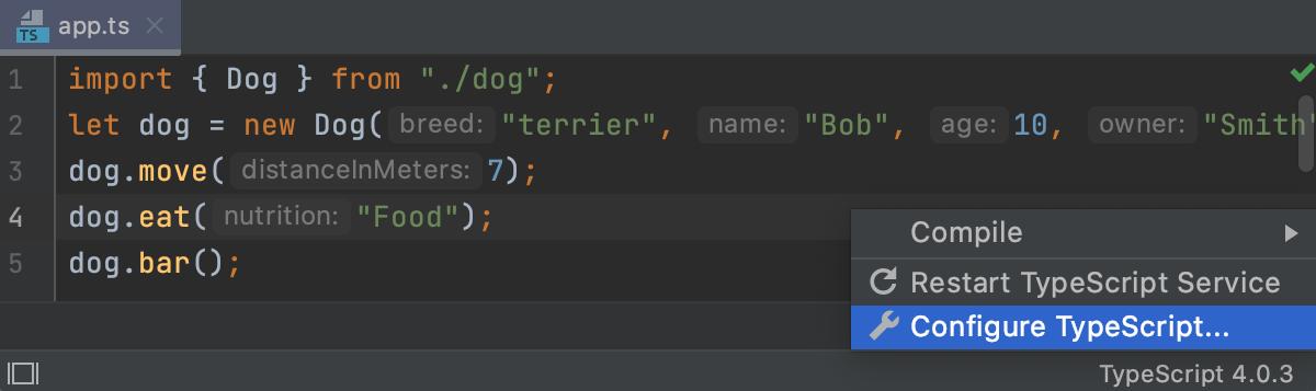 TypeScript widget