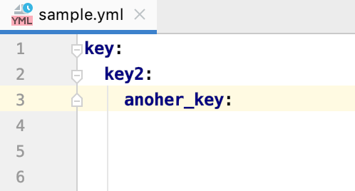 Yaml key sequence