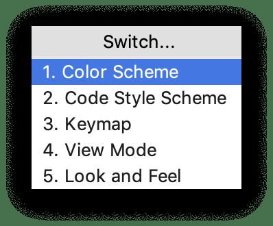 the Switch menu