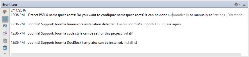 Joomla Event Log