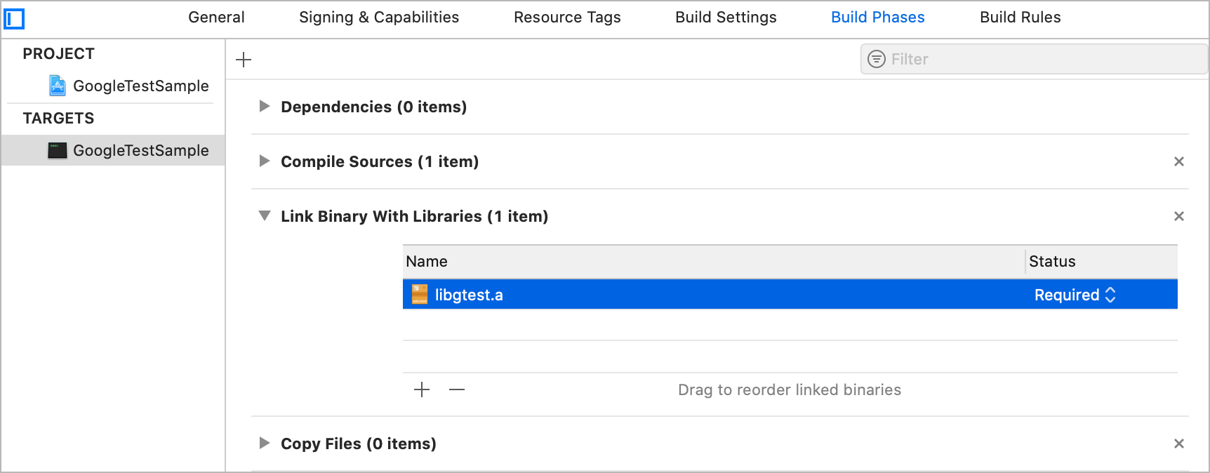 Add a library in Xcode