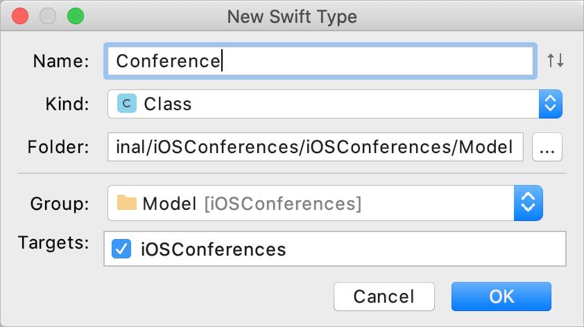 Add a new Swift type