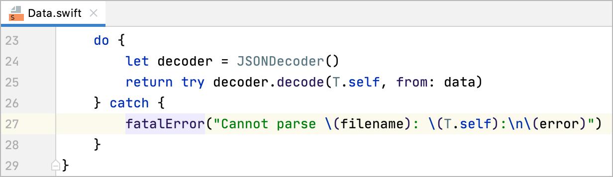 The Fatal Error code