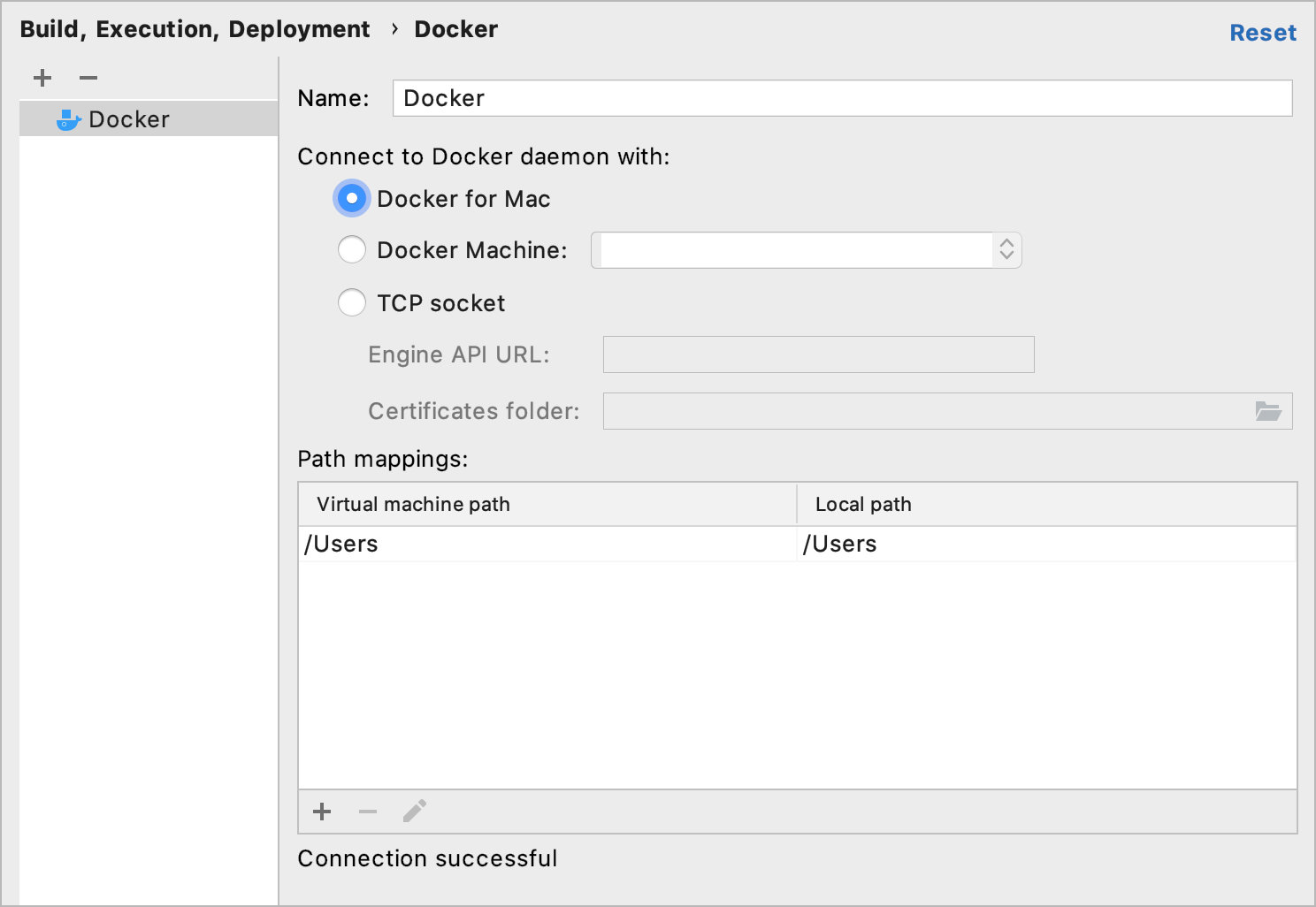 Docker connected