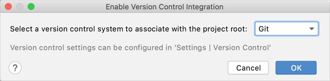 Enable Git integration