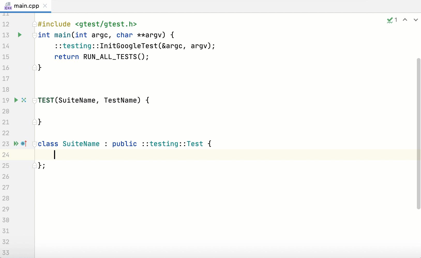 Generate SetUp Method