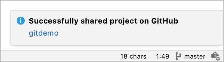 The repo is shared on GitHub